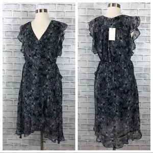 a new day Dresses - A New Day Black and White Floral Dress